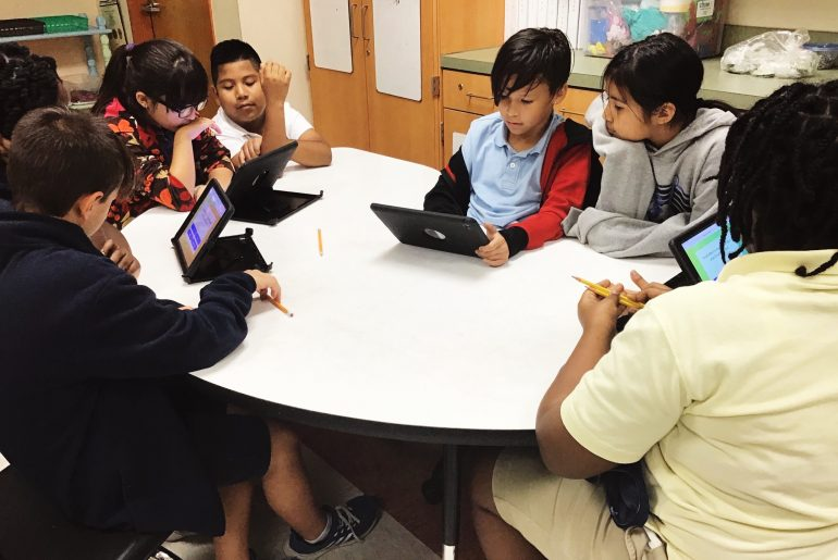 Students using Quizalize