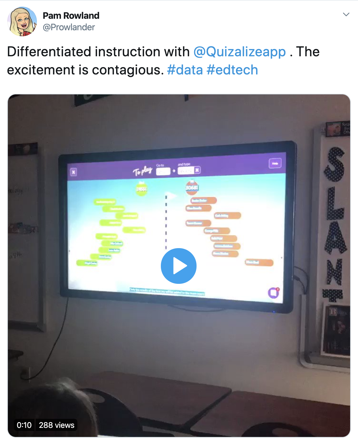 Quizalize is engaing!
